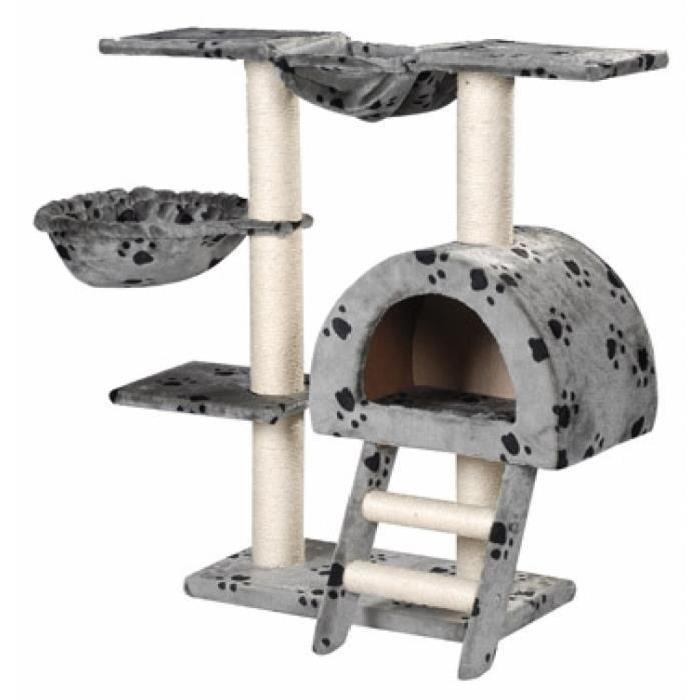 arbre a chat 2 hamacs. Black Bedroom Furniture Sets. Home Design Ideas