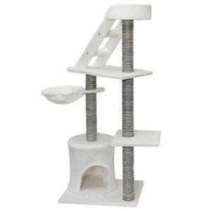 arbre a chat blanc angle. Black Bedroom Furniture Sets. Home Design Ideas