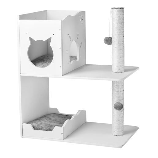 arbre a chat blanc. Black Bedroom Furniture Sets. Home Design Ideas
