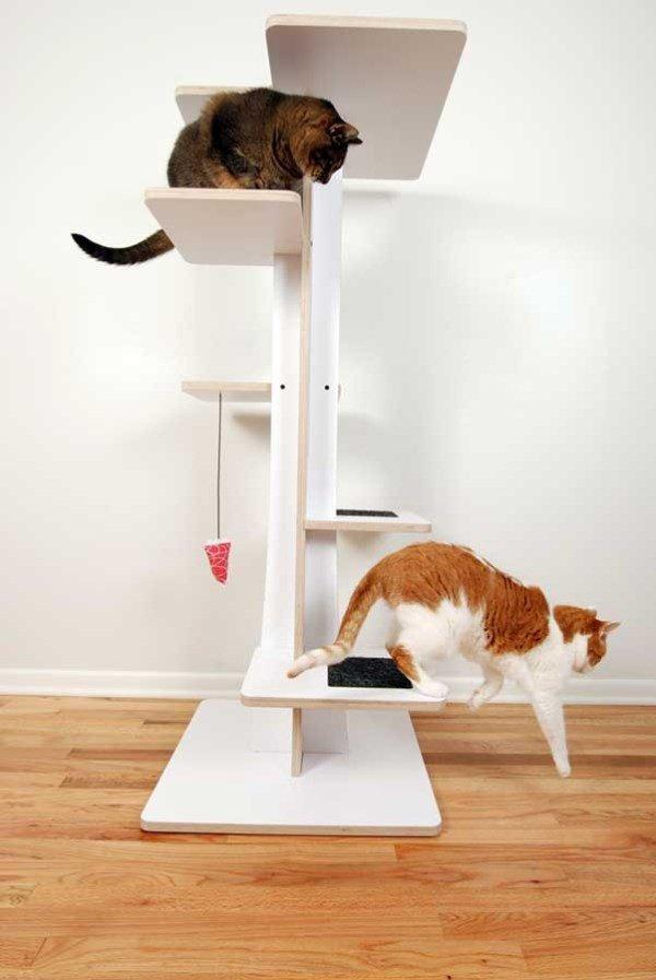 arbre a chat design blanc. Black Bedroom Furniture Sets. Home Design Ideas