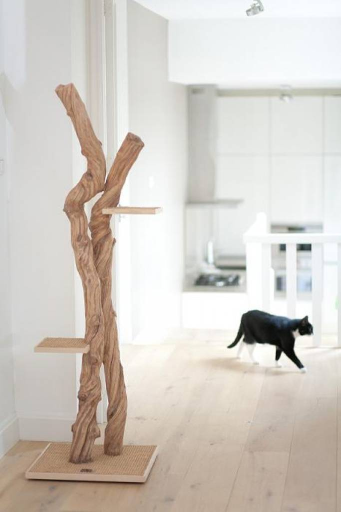Arbre a chat design en bois - Arbre a chat bois naturel ...