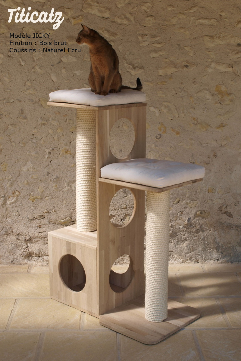 arbre a chat design gris
