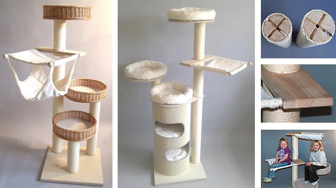 arbre a chat design osier. Black Bedroom Furniture Sets. Home Design Ideas