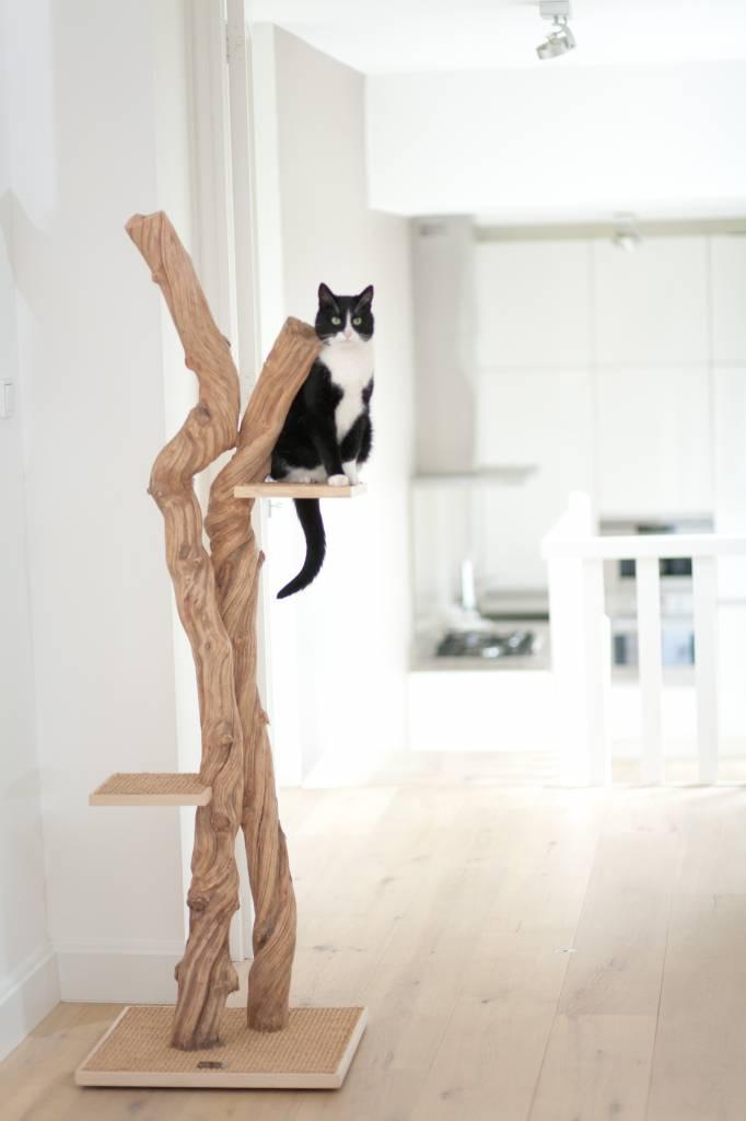 Arbre a chat en forme d 39 arbre for Maison chat design