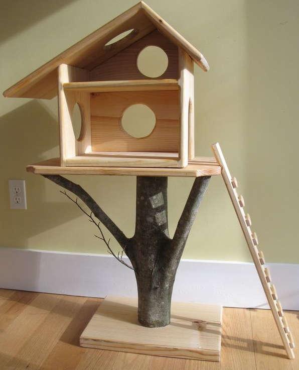 arbre a chat en forme d 39 arbre. Black Bedroom Furniture Sets. Home Design Ideas