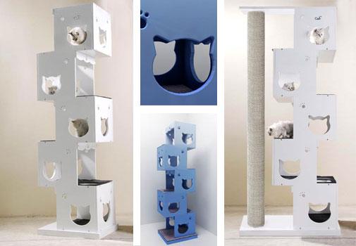 arbre a chat gain de place. Black Bedroom Furniture Sets. Home Design Ideas