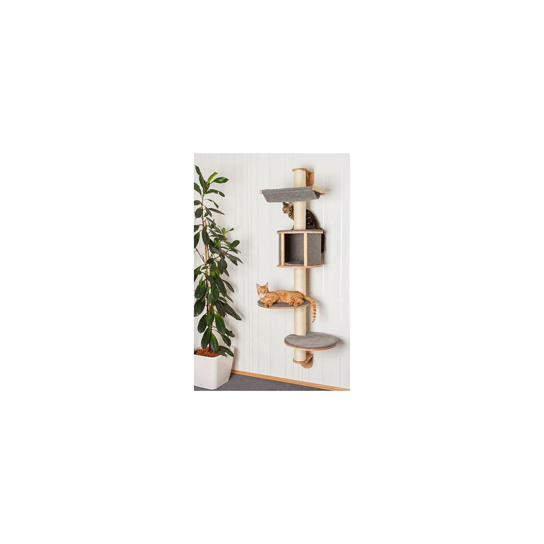 arbre a chat mural gris. Black Bedroom Furniture Sets. Home Design Ideas