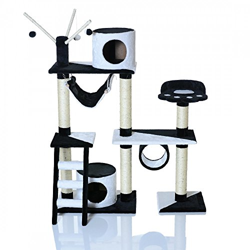 arbre a chat noir et blanc. Black Bedroom Furniture Sets. Home Design Ideas