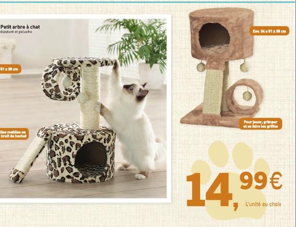 arbre a chat pas cher lidl. Black Bedroom Furniture Sets. Home Design Ideas