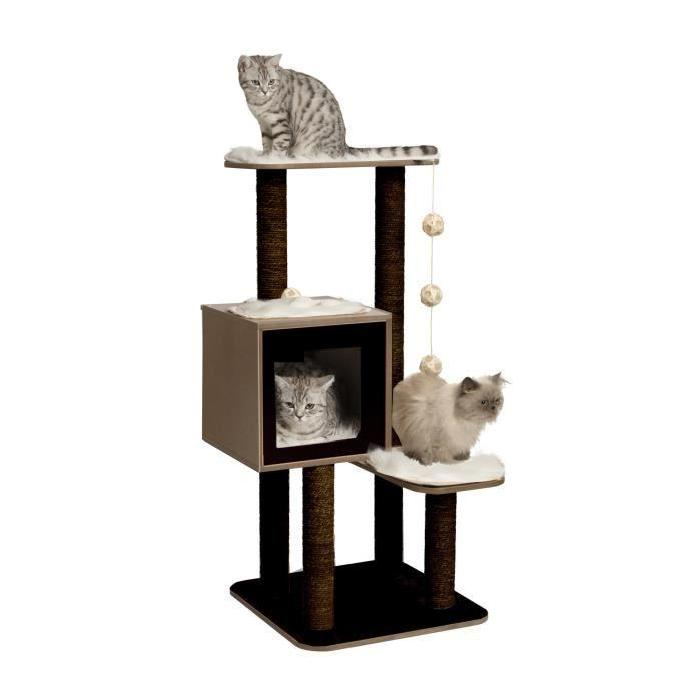 arbre a chat pas cher noir. Black Bedroom Furniture Sets. Home Design Ideas
