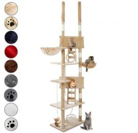 arbre a chat qui se fixe au plafond. Black Bedroom Furniture Sets. Home Design Ideas