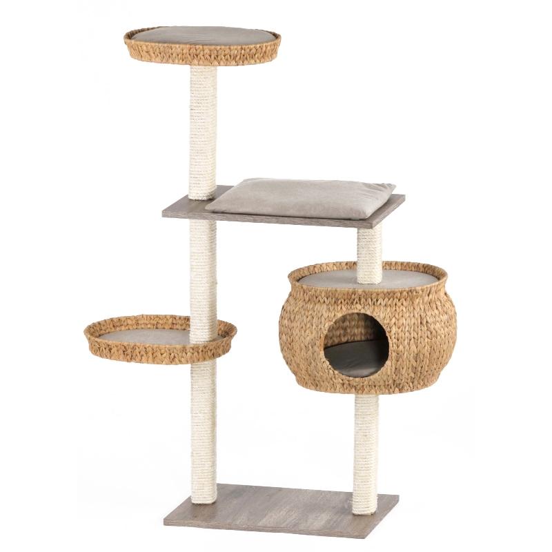 arbre a chat rotin. Black Bedroom Furniture Sets. Home Design Ideas