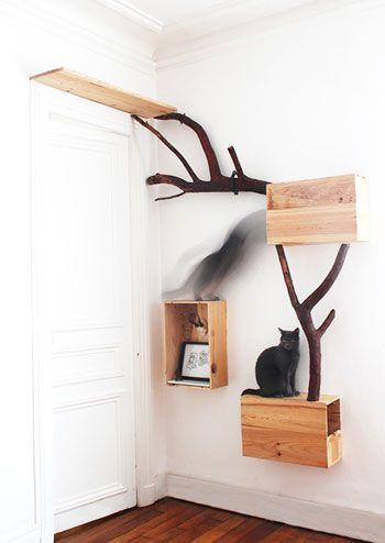 arbre a chat suspendu. Black Bedroom Furniture Sets. Home Design Ideas