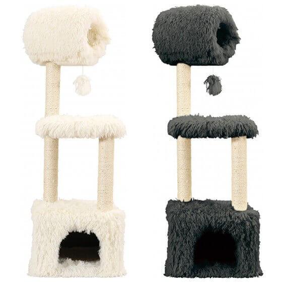 arbre a chat yeti blanc. Black Bedroom Furniture Sets. Home Design Ideas